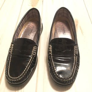 Sperry Top - Sider Black Patent Leather Loafers 8